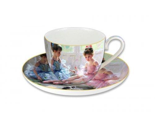 Чашка с блюдцем Carmani Балерины у окна, в подарочной упаковке