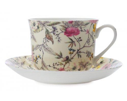 Чашка с блюдцем Летние цветы Maxwell & Williams, большая, в подарочной упаковке