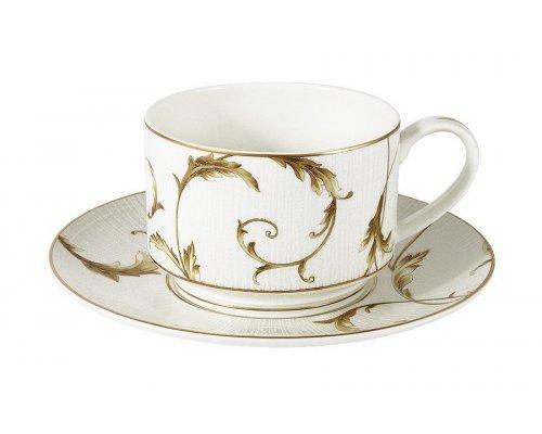 Чашка с блюдцем Emily Элегия Голд