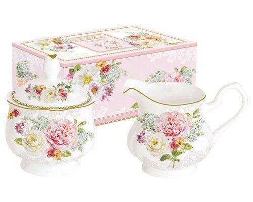 Набор: сахарница + молочник Цветочная романтика Easy Life (R2S)
