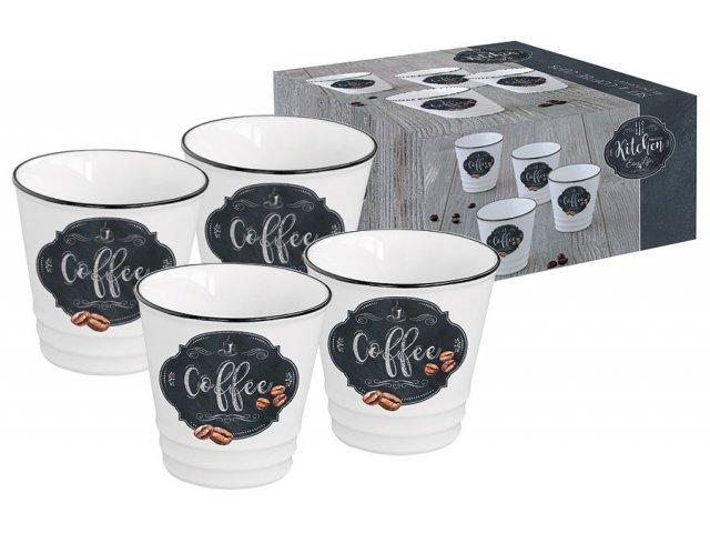 Набор из 4-х чашек для кофе Кухня в стиле Ретро Easy Life (R2S) в подарочной упаковке
