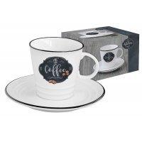 Чашка с блюдцем Кухня в стиле Ретро Easy Life (R2S) (кофе) в подарочной упаковке