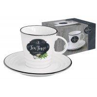 Чашка с блюдцем Кухня в стиле Ретро Easy Life (R2S) (чай) в подарочной упаковке