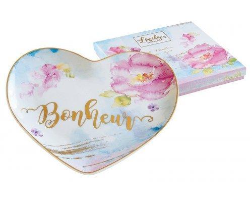 Тарелка в форме сердца Любовь Easy Life (R2S) в подарочной упаковке