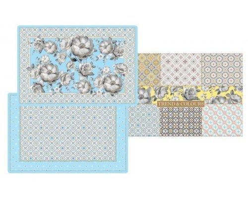 Набор из 4-х салфеток под горячее Цветовая палитра (голубая) Easy Life (R2S) в подарочной упаковке
