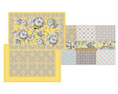 Набор из 4-х салфеток под горячее Цветовая палитра (жёлтая) Easy Life (R2S) в подарочной упаковке