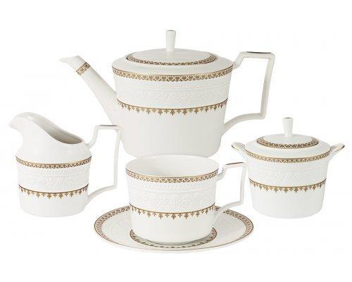 Чайный сервиз из 15 предметов на 6 персон Золотой замок Colombo