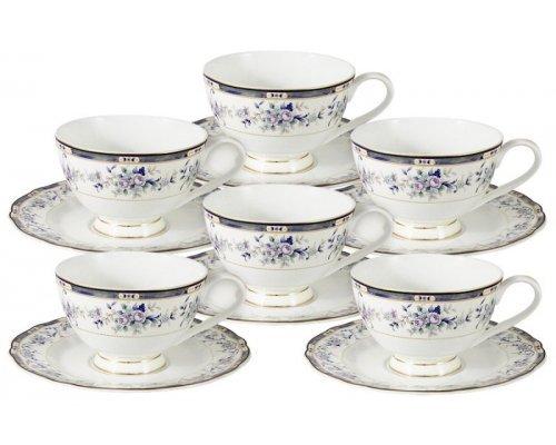 Набор для чая 12 предметов Маркиза: 6 чашек + 6 блюдец