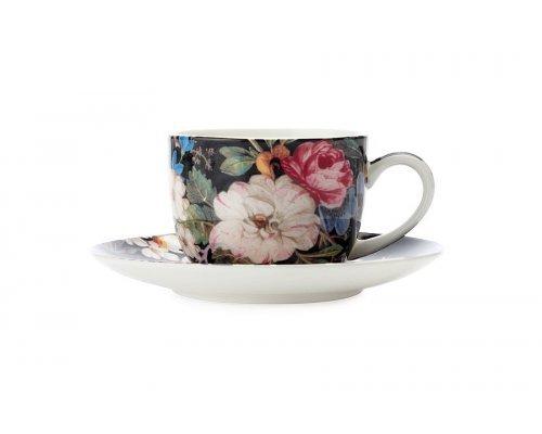 Чашка с блюдцем для кофе Полночные цветы Maxwell & Williams в подарочной упаковке