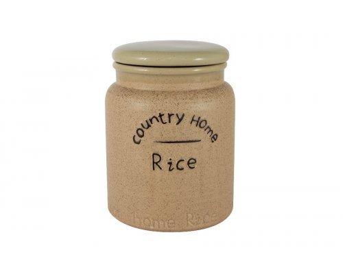 Банка для сыпучих продуктов (рис) Кантри Хоум LF Ceramics