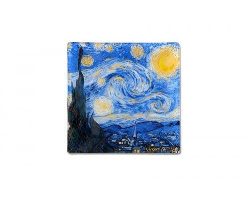 Тарелка квадратная 13х13 см Звездная ночь (Ван Гог) без индивидуальной упаковки