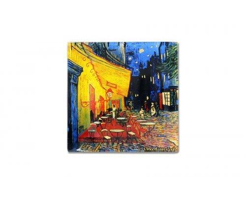 Тарелка квадратная Ночная терраса кафе (Ван Гог) без индивидуальной упаковки