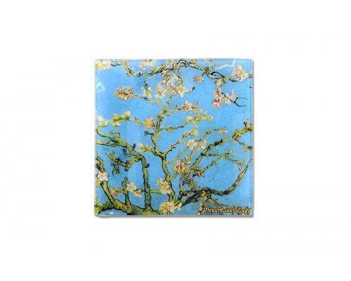 Тарелка квадратная Цветущий миндаль (Ван Гог) без индивидуальной упаковки