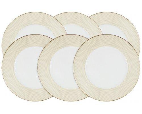 Набор из 6 обеденных тарелок Бриз Голд Narumi