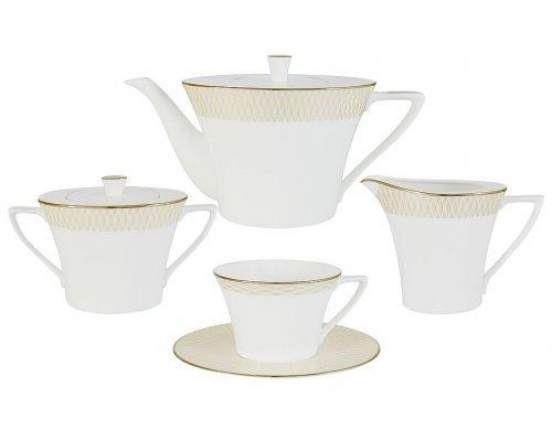 Чайный сервиз из 17 предметов на 6 персон Бриз Голд Narumi