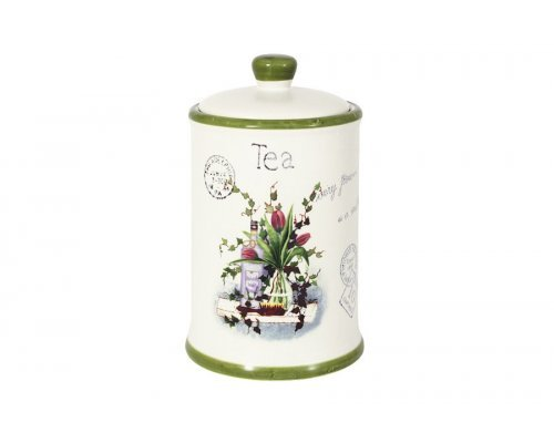 Банка для сыпучих продуктов (чай) Букет Anna Lafarg LF Ceramics