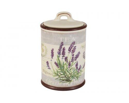 Банка для сыпучих продуктов Лаванда LF Ceramic (чай)