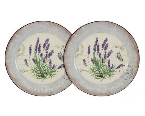 Набор из 2-х десертных тарелок Лаванда LF Ceramic