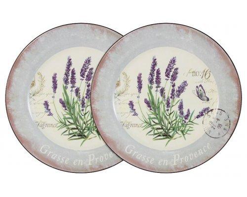 Набор из 2-х обеденных тарелок Лаванда LF Ceramic