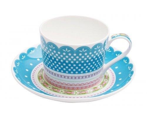 Чашка с блюдцем (голубая) Шантильи Maxwell & Williams в подарочной упаковке