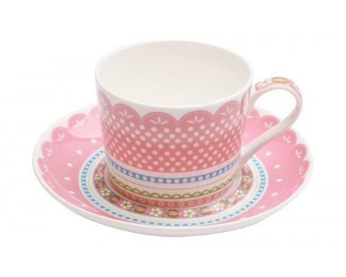 Чашка с блюдцем (розовая) Шантильи Maxwell & Williams в подарочной упаковке