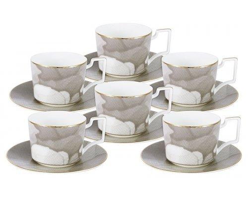 Чайный набор Naomi Лунная соната: 6 чашек + 6 блюдец