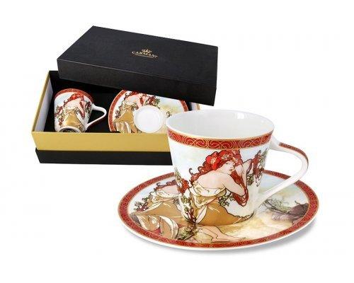 Чашка с блюдцем Carmani Лето (А. Муха) в подарочной упаковке