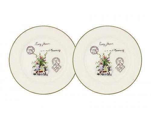 Набор из 2-х десертных тарелок Букет LF Ceramic