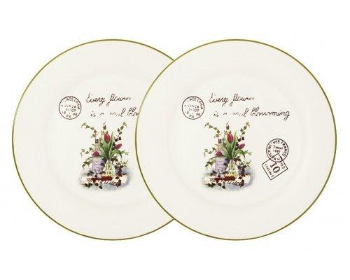 Набор из 2-х обеденных тарелок Букет LF Ceramic