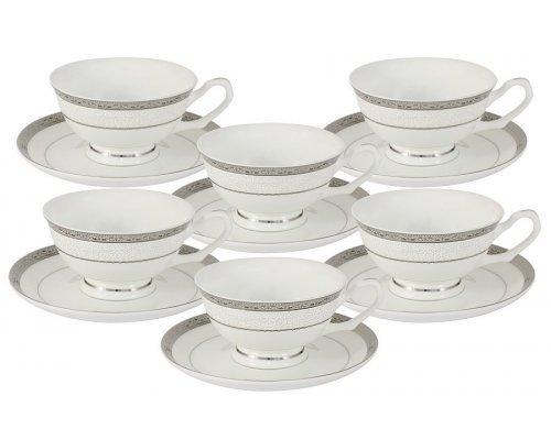 Набор для чая 12 предметов Бостон Emily: 6 чашек + 6 блюдец