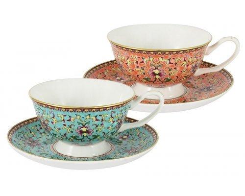 Набор для кофе: 2 чашки + 2 блюдца Восточный дворец Stechcol в подарочной упаковке