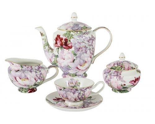 Чайный сервиз из 15 предметов на 6 персон Райский сад Stechcol в подарочной упаковке