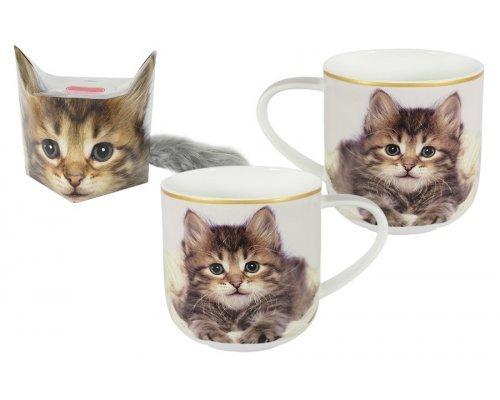 Кружка Carmani Котёнок в подарочной упаковке + брелок-хвостик
