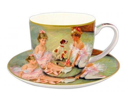 Чашка с блюдцем Carmani Балерины на отдыхе в подарочной упаковке