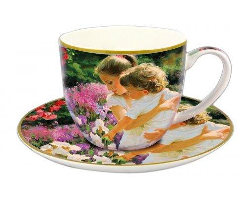 Чашка с блюдцем Carmani Материнство в подарочной упаковке