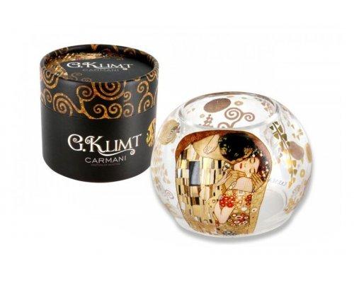 Подсвечник в форме шара малый Carmani Поцелуй (Г.Климт)