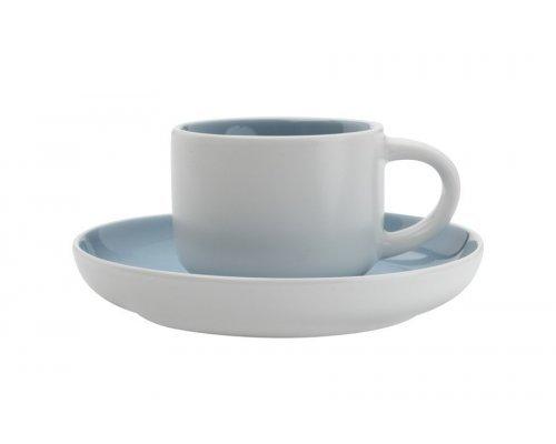 Чашка кофейная с блюдцем Maxwell & Williams Оттенки (голубая) без индивидуальной упаковки.