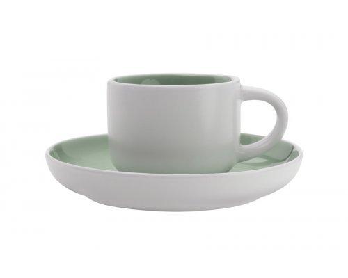 Чашка кофейная с блюдцем Maxwell & Williams Оттенки (мятная) без индивидуальной упаковки