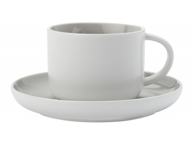 Чашка с блюдцем Maxwell & Williams Оттенки (серая) без индивидуальной упаковки