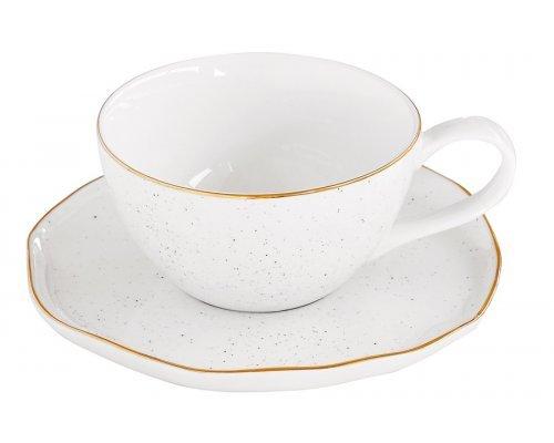 Чашка с блюдцем Easy Life (R2S) Artesanal (белая) без индивидуальной упаковки