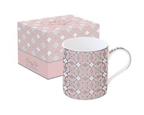 Кружка Геометрия Easy Life (R2S) (розовая) в подарочной упаковке
