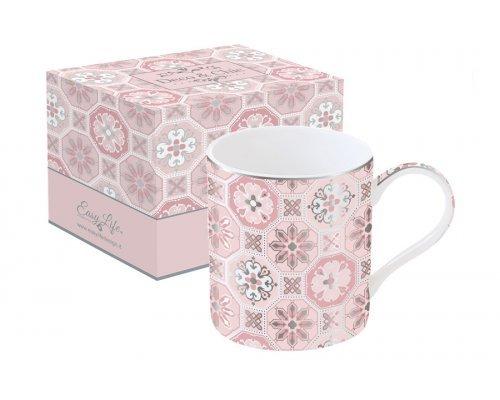 Кружка Изразцы Easy Life (R2S) (розовая) в подарочной упаковке