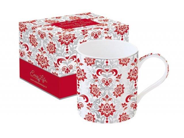 Кружка Рококо (красная) Easy Life (R2S) в подарочной упаковке