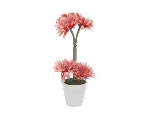 Декоративные цветы Dream Garden Герберы светло-коралловые в керамической вазе