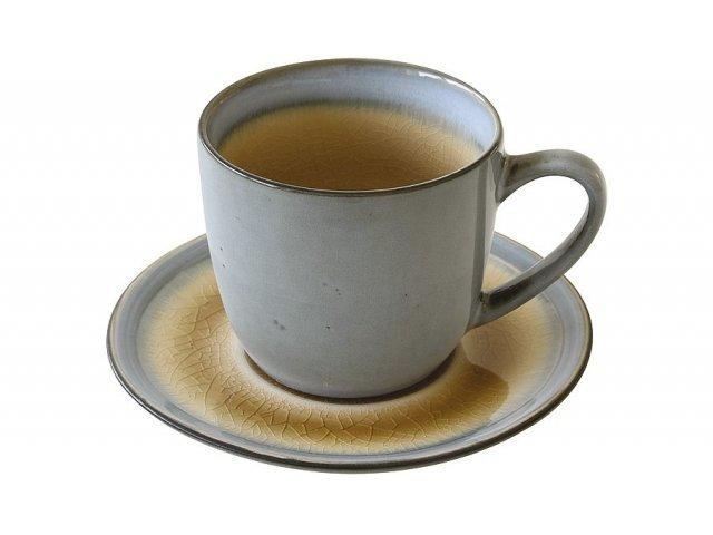 Чашка с блюдцем Origin (бежевая) Easy Life (R2S) без индивидуальной упаковки