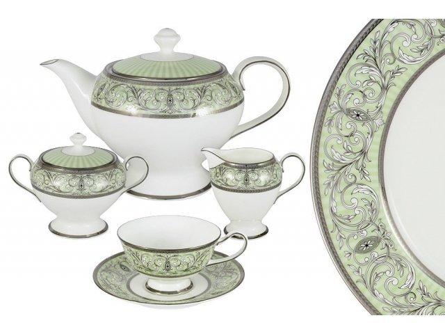 Чайный сервиз из 17 предметов на 6 персон Блеск Narumi