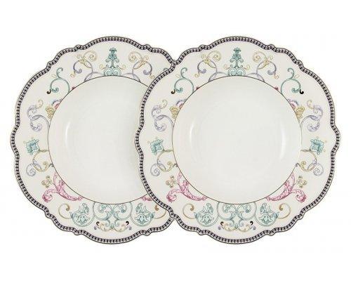 Набор из 2-х суповых тарелок Узор Anna Lafarg Primavera в подарочной упаковке
