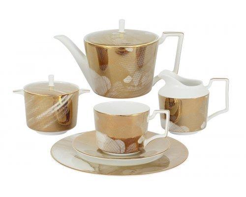Чайный сервиз Лунная соната Голд Naomi 21 предмет на 6 персон