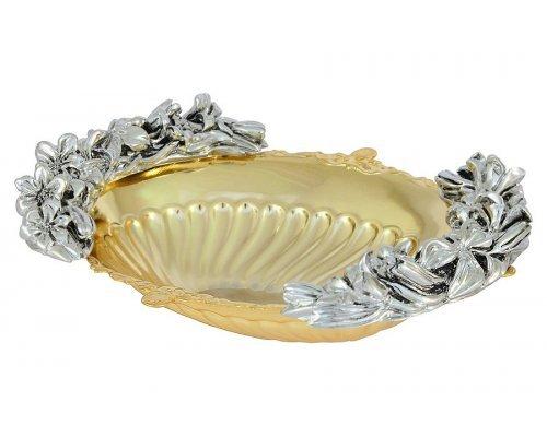 Ваза овальная с отделкой под золото/серебро Gamma Chinelli