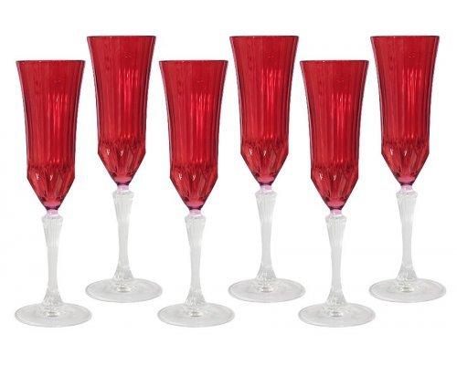 Набор: 6 бокалов для шампанского Same Адажио - красная